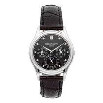Patek Philippe Platinum Automatic Black No numerals 37.2mm pre-owned Perpetual Calendar