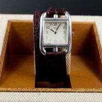 Hermès Silber Quarz Grau Arabisch 23mm gebraucht Cape Cod