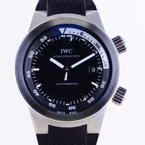 IWC Aquatimer Automatic Stal 42mm Czarny Bez cyfr