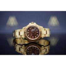 Rolex Yacht-Master Жёлтое золото 29mm Перламутровый