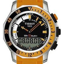 Tissot Sea-Touch Zeljezo 46mm Crn Bez brojeva