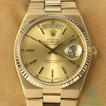 Rolex Day-Date Oysterquartz Geelgoud 36mm Champagne Romeins