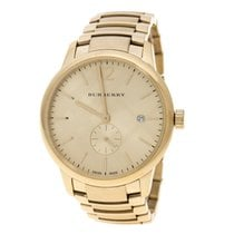 Burberry Gold/Steel Quartz Burberry Gold Plated Steel BU10006 The Classic Round pre-owned