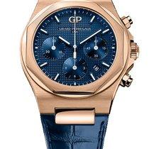 Girard Perregaux Laureato Or rose 42mm Bleu Sans chiffres