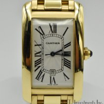 Cartier Tank Américaine pre-owned 27mm White Date Yellow gold