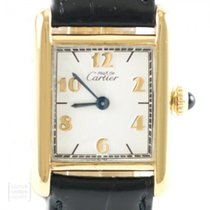 Cartier Tank Vermeil Srebro 20mm Biały