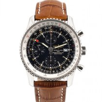 Breitling Navitimer World Steel 46mm Black No numerals