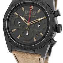 "Tudor Gent's Black Ceramic  Fastrider ""Black Shield"" Chronogra..."