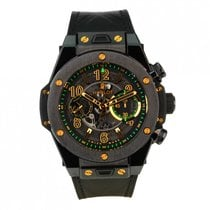 Hublot Big Bang Unico gebraucht 45.5mm Transparent Chronograph Datum Leder