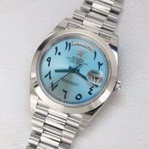 Rolex Day-Date 40 Platinum 40mm Blue UAE, Gold and Diamond Park Bulding #5 Dubai