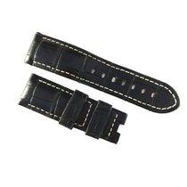 Panerai 24 / 22mm black alligator leather strap
