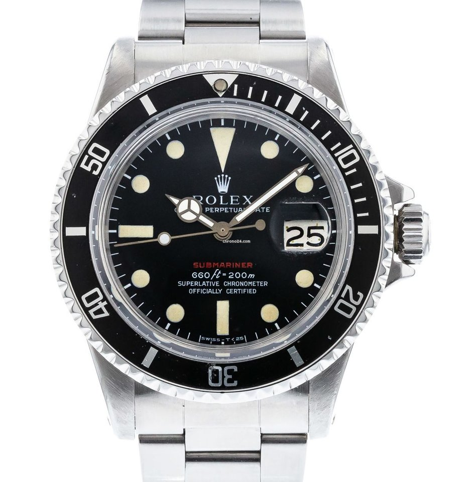 best website 717f5 ac006 Rolex Submariner 1680 Watch with Stainless Steel Bracelet and Aluminum,  Stainless Steel Bezel