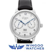 Glashütte Original 44mm Automatic 2019 new Senator Observer Silver