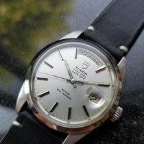 Tudor 38mm Automatic 1973 pre-owned Prince Date Silver
