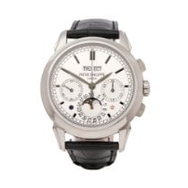 Patek Philippe Perpetual Calendar Chronograph White gold 41mm Silver United Kingdom, Bishop's Stortford