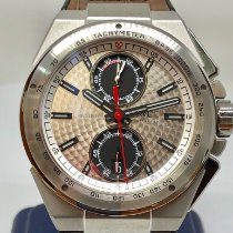 IWC Steel Automatic Silver No numerals 45mm pre-owned Ingenieur Chronograph