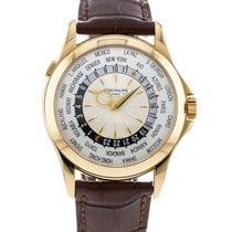Patek Philippe World Time Yellow gold 39.5mm Silver United States of America, Georgia, Atlanta