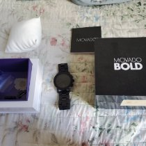 Movado Bold Staal 43mm Zwart