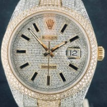 Rolex Datejust II Goud/Staal 41mm Zwart Geen cijfers