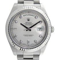 Rolex Argent 41mm occasion Day-Date II