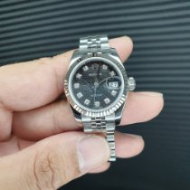 Rolex Lady-Datejust Zeljezo 26mm Crn