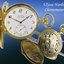 Ulysse Nardin Watch pre-owned 1890 Yellow gold 54mm Roman numerals Manual winding Watch only