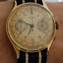 Aerowatch Chronograaf 37mm Handopwind 1940 tweedehands Champagne