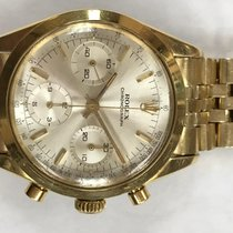 Rolex Chronograph Yellow gold 38mm Silver No numerals