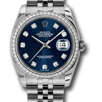 Rolex 116244 Datejust Stainless Steel&18K White Gold&D...