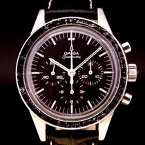 Omega Chronograph 40mm Manual winding 1965 pre-owned Speedmaster Professional Moonwatch Black