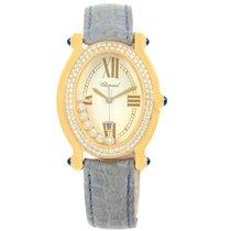 Chopard Happy Diamond Yellow Gold Floating Diamonds Watch...