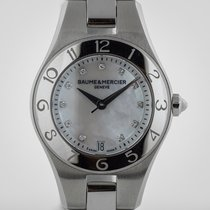 Baume & Mercier Linea Ladies, Stainless Steel, MOP Diamond...