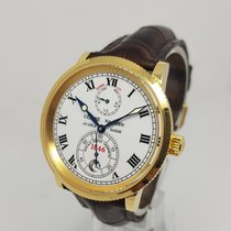 Ulysse Nardin Yellow gold Automatic White Roman numerals 38mm pre-owned