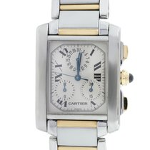 Cartier Tank Francaise Chronoflex 2303 Two Tone  Roman Dial Watch