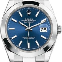 Rolex Datejust Rolex Datejust model 126300 41mm Blue dial with oyster band 2020 new