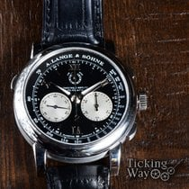 A. Lange & Söhne Double Split Platinum 43mm Black Roman numerals