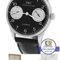 IWC Portuguese Portugieser 2000 Black Panda 7-Day Stainless...