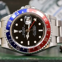 Rolex GMT-Master II 16710 Rectangular Dial Pepsi Never Polish...
