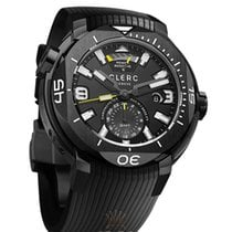 Clerc Hydroscaph GMT Steel 48mm Black