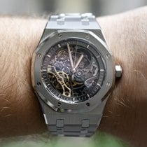 Audemars Piguet 41mm Automatisk 2018 ny Royal Oak Double Balance Wheel Openworked Transparent