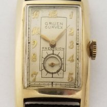 Gruen 40mm Manual winding 1940 pre-owned Curvex Silver