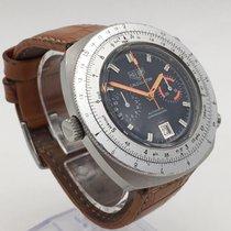 Heuer Acier 45mm Remontage automatique Heuer Vintage chronograph Calculator 110.633. occasion Belgique, Ixelles