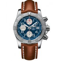 Breitling Avenger II Steel 43mm Blue Arabic numerals