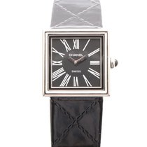 Chanel Steel Quartz Black 22mm new Mademoiselle