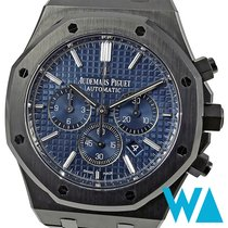 Audemars Piguet Royal Oak Chronograph Aço 41mm Azul Sem números