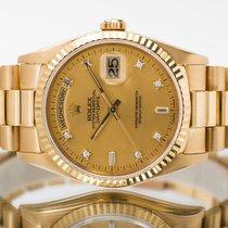 Rolex Day-Date 36 gebraucht 36mm Champagnerfarben Datum Gelbgold