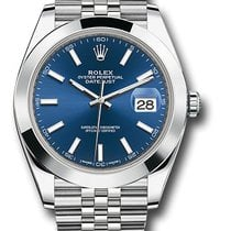 Rolex Datejust Steel 41mm Blue No numerals United States of America, New York, New York
