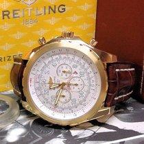 Breitling Bentley Le Mans Gelbgold 48.7mm Weiß Arabisch
