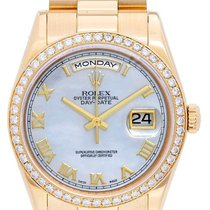Rolex President Day-Date Factory Mother of Pearl with Gold...