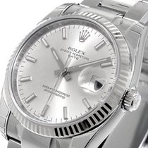 Rolex 115234 Date Model 34 Mm Mens Steel Oyster Silver Stick...